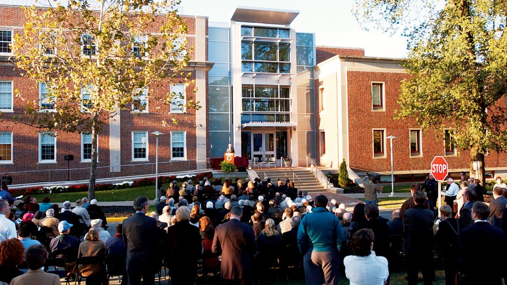 At the dedication for the the 90,000-square-foot Acopian Engineering Center in 2003.