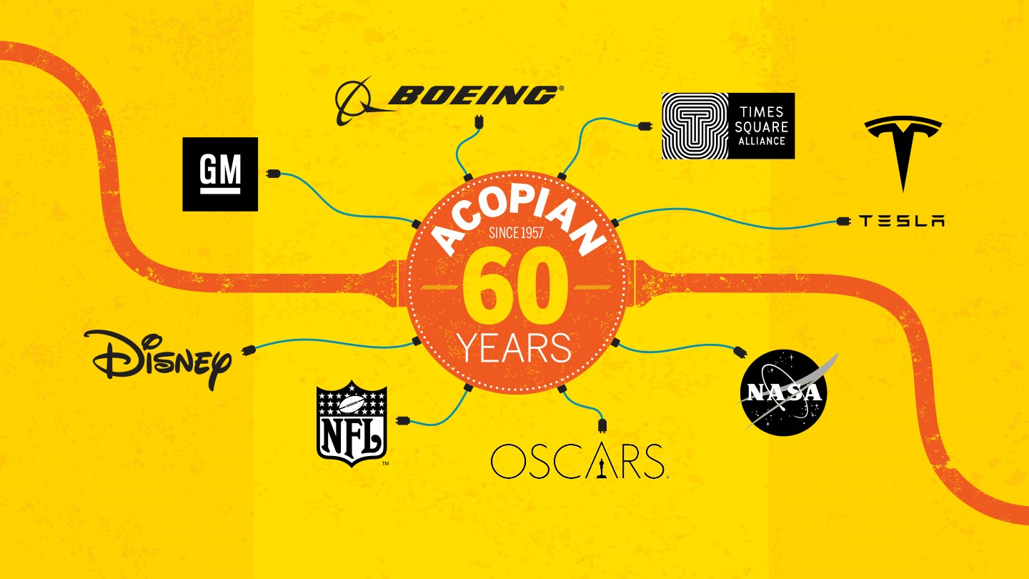 Acopian - From NASA to Hollywood, Acopian powers the world - 60 years